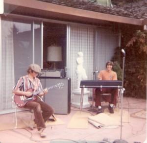 Doug with Jeff Rice, Wrath Creek keyboard player, 1974