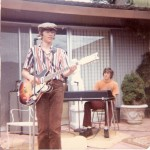 Doug with Jeff Rice, Wrath Creek keyboard player, 1974