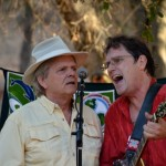 Doug and Larry Kiser sing the banjo medley at Rainbowland concert, 8/23/14